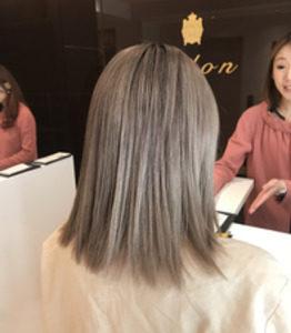 銀座の美容室Salon 人気のグレージュカラー